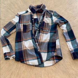 Nordstrom Rubbish Flannel Style Top